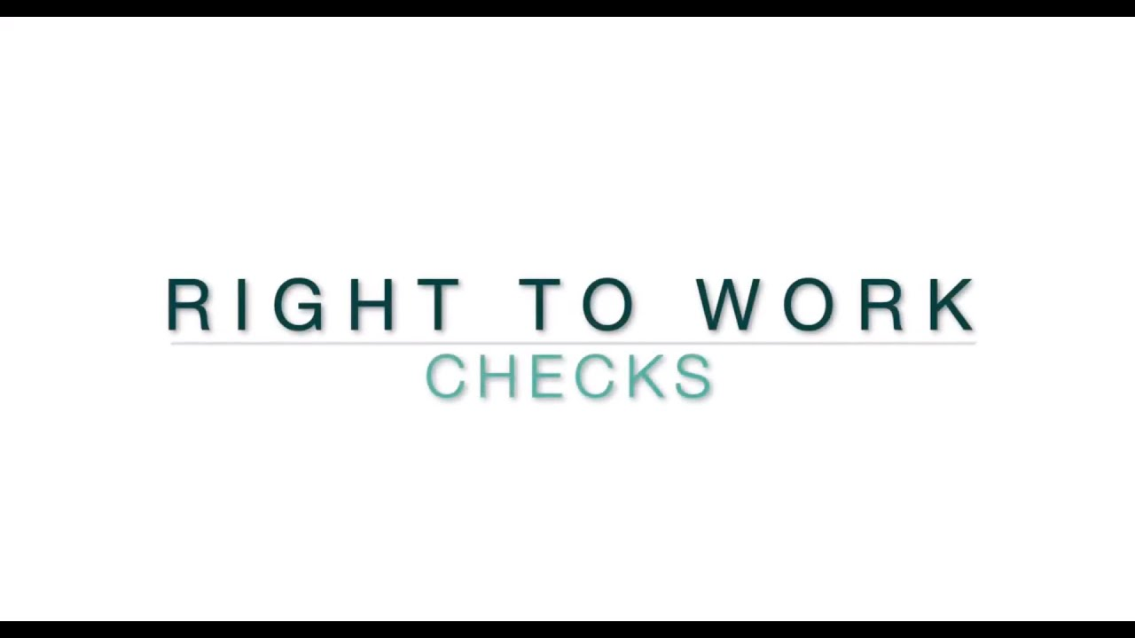 Revisions to the Right to Work Check Lists